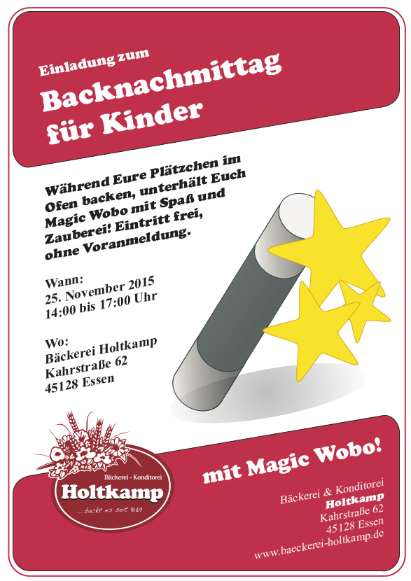 Backnachmittag Für Kinder 2015, Bäckerei Holtkamp, Essen, Kahrstraße, Konditorei Holtkamp