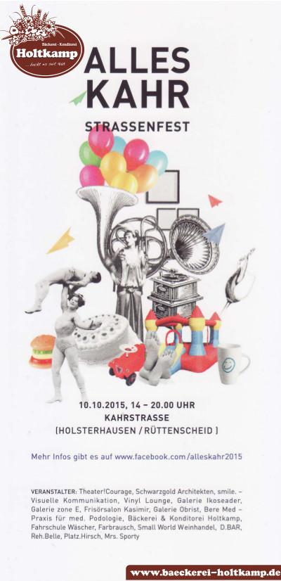 Bäckerei & Konditorei Holtkamp, Essen, Essen-Holsterhausen, Essen-Rüttenscheid, Straßenfest, Alles Kahr, 2015,